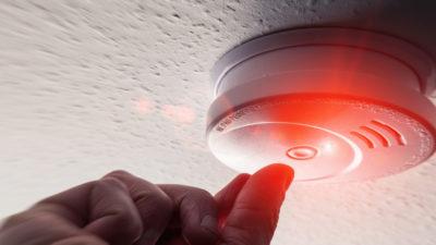 Testing Domestic Home Smoke Alarm detector